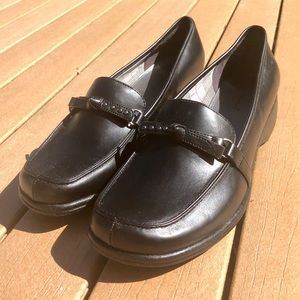 NEW Predictions Slip On Black Buckle Loafers